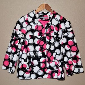 NY Collection Printed Jacket/Blazer